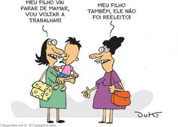 Blog do Ozailton: CHARGE: DEIXANDO DE MAMAR...