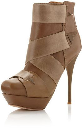 ShopStyle: L.A.M.B. Bask Ankle Boot