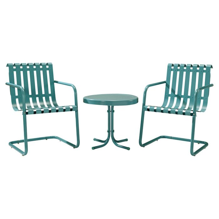 3 Piece Gracie Patio Seating Group Outdoor Chairs Patio Seating Outdoor Seating