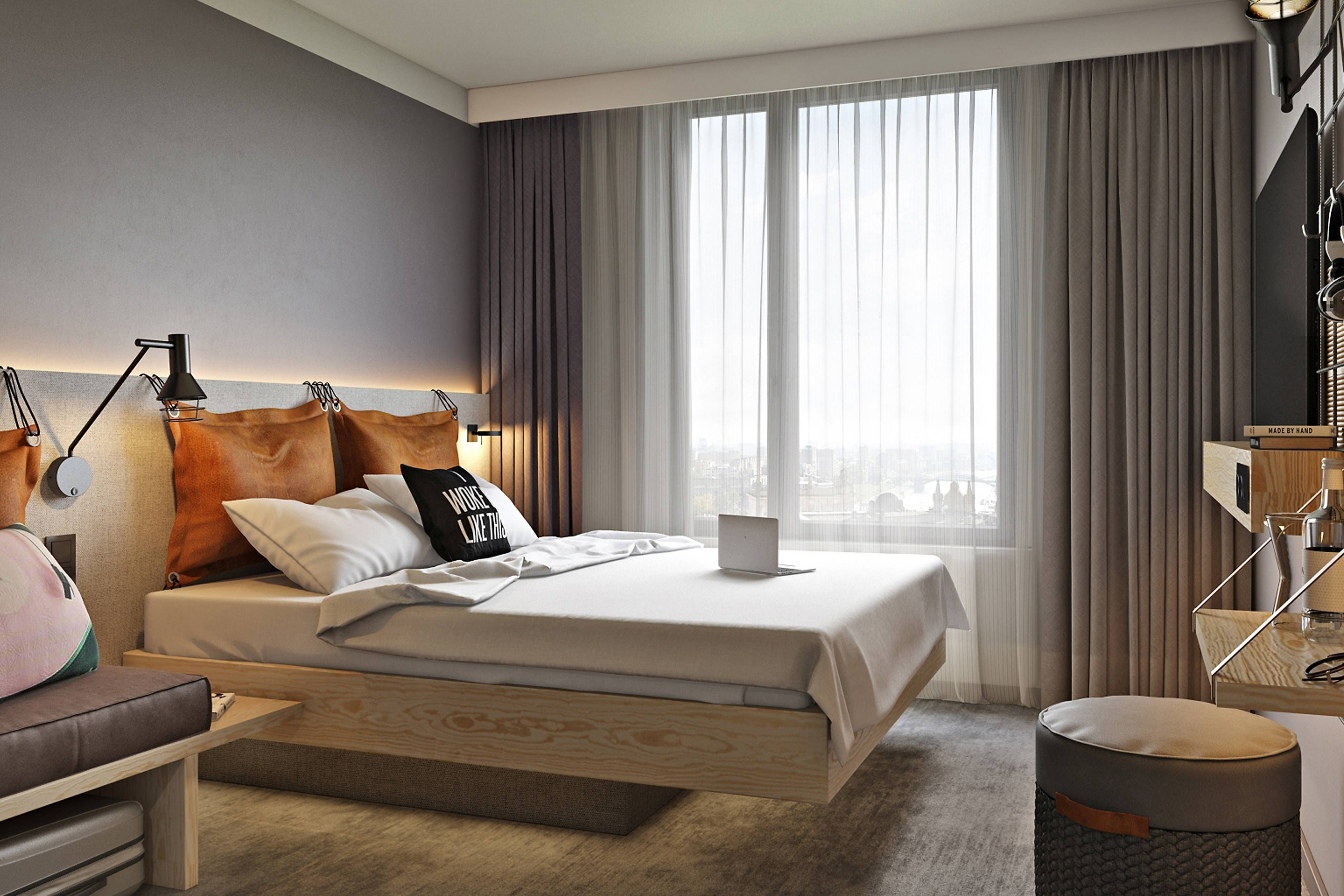 Moxy Frankfurt City Center Moxy Queen Sleeper Suite Comfort Enjoying European Hotel Home Decor Interior
