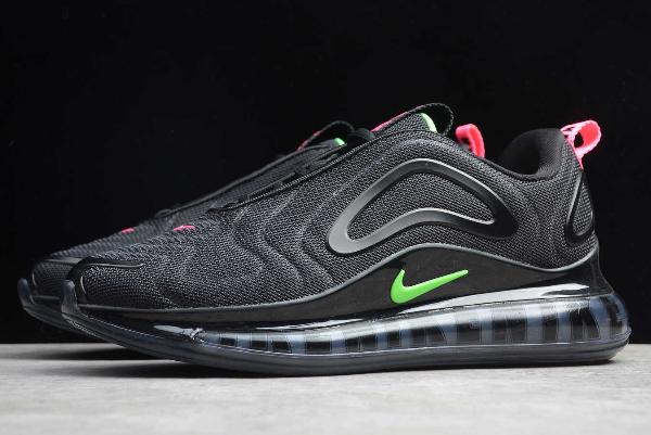 2019 Nike Air Max 720 Black Hyper Pink Scream Green Cq4614 001
