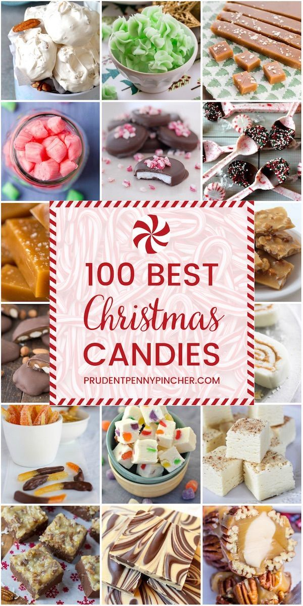 100 Best Christmas Candy Recipes - Homemade Christmas candy makes a great Christmas gift or addition to the Christmas dessert menu. There are 100 sweet Christmas treats here to choose from. #Christmas #Recipes #ChristmasDesserts #desserts #candy #treats #ChristmasFood #ChristmasTreats #ChristmasParty #ChristmasGift
