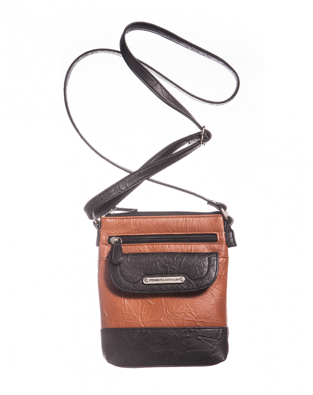 Stone Mountain Handbags Company Crinkled Leather Mini Crossbody By Usa