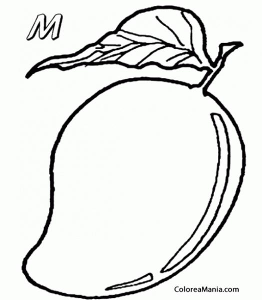 Colorear Mango Empieza Con M Frutas Dibujo Para Colorear Gratis Dibujos Para Colorear Frutas Para Colorear Dibujos Para Colorear Gratis