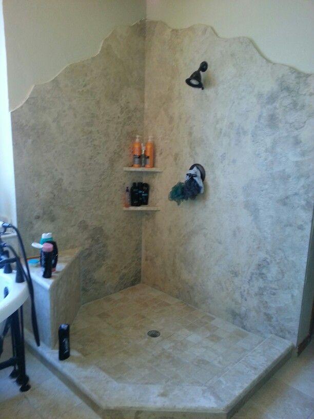 Our Full Granite Slab Shower Walls
