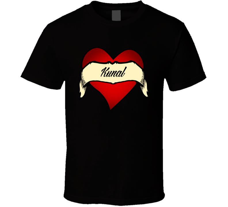 Heart Kunal Tattoo Name T Shirt Shirts T Shirt Tattoo Tees
