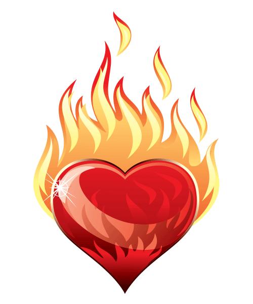 Heart A Blaze Fire Heart Heart Drawing Heart Art