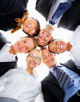 Work Team Smiling