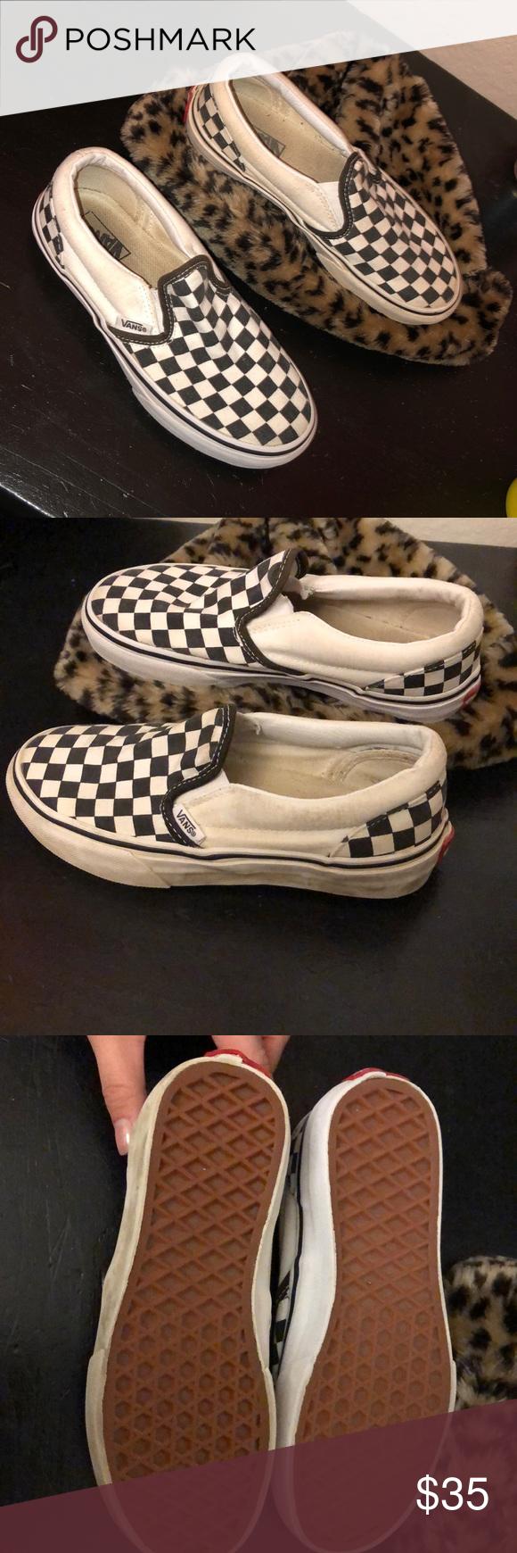 Checkered vans ( kids size 1.0 ) in