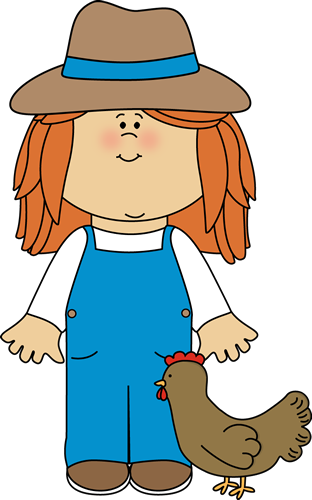 farmer girl from mycutegraphics farm clip art pinterest rh pinterest com farm clipart free farm scene clipart free