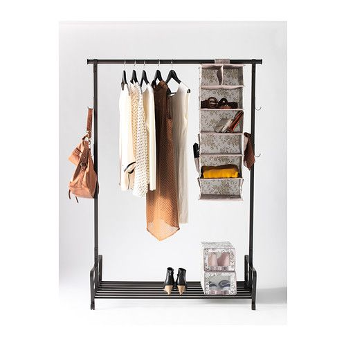 Portis clothes rack black clothes racks apartments and for Ikea clothes rack