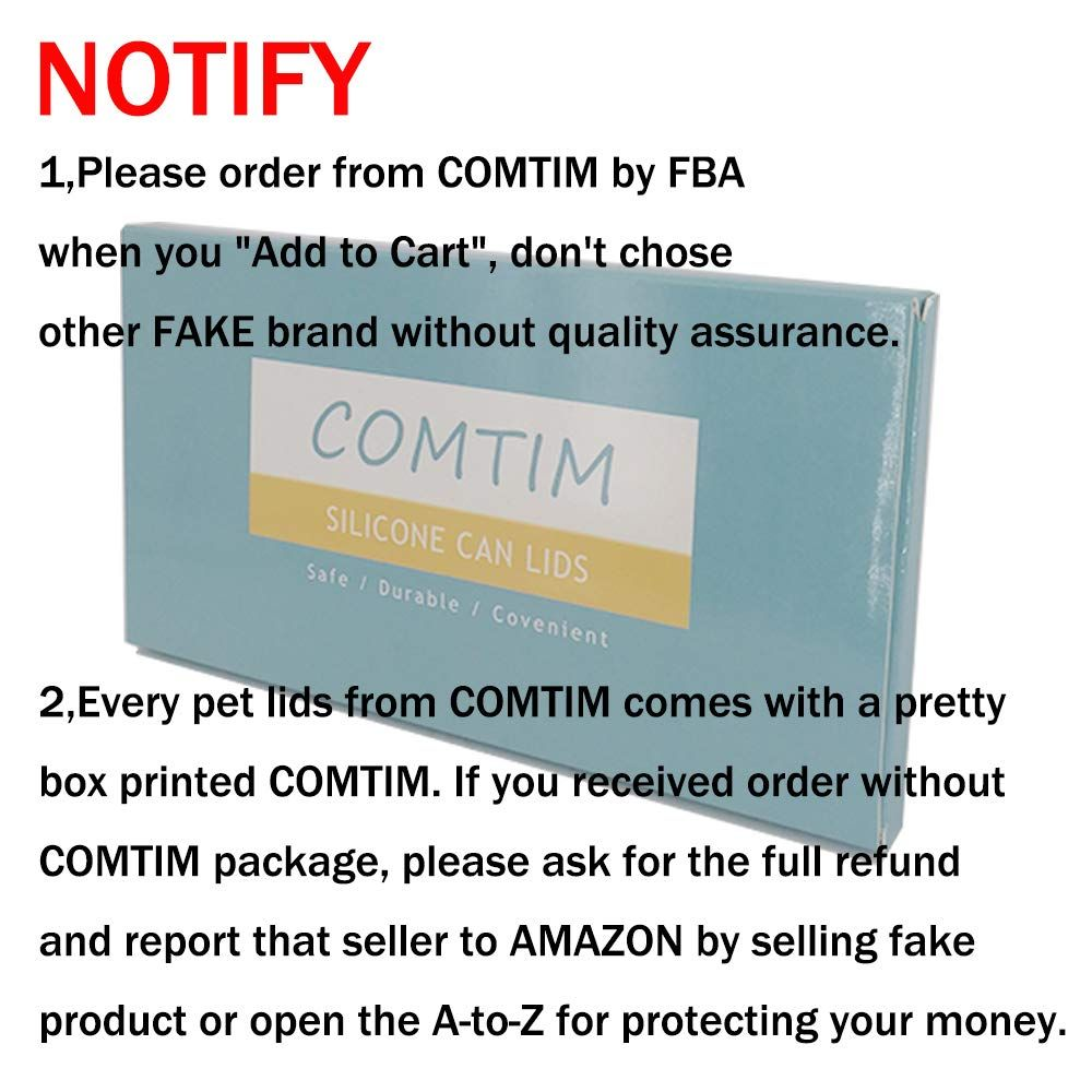 Comtim Pet Food Can Cover Silicone Can Lids For Dog And Cat