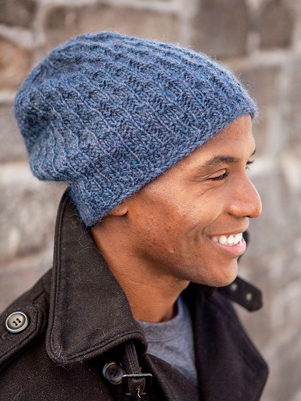 99f02bf8009af6 15 Incredibly Handsome Winter Hats for Men to Knit or Crochet. Winter hats  for men :: FineCraftGuild.com :: slouchy mens hat Tinson