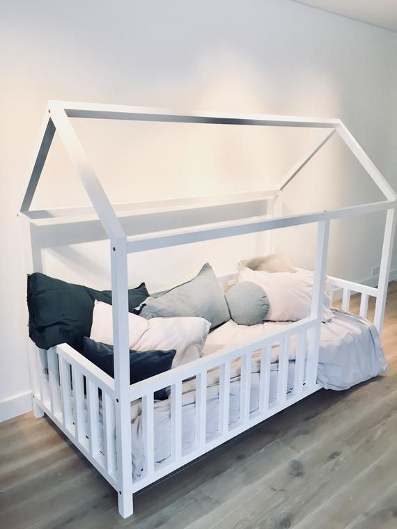 Toddler bed, play house bed frame, children bed, bunk bed, home bed, wood house, floor bed, teepee bed, wooden bed, wood house
