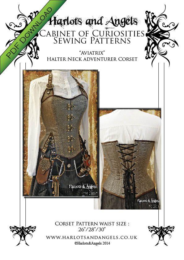 pdf sewing patterns, steampunk gothic burlesque fashion, mens ...