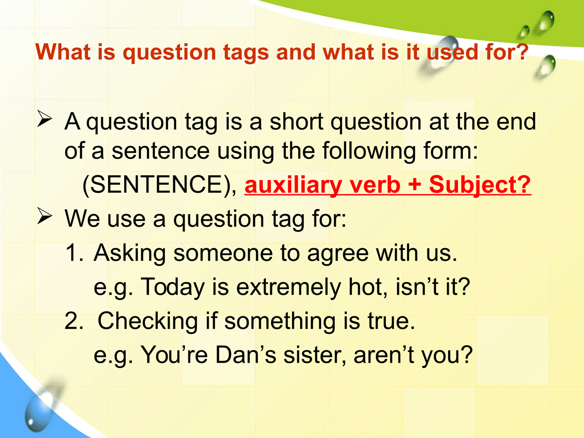 How to Form Question Tag in English   This or that ...