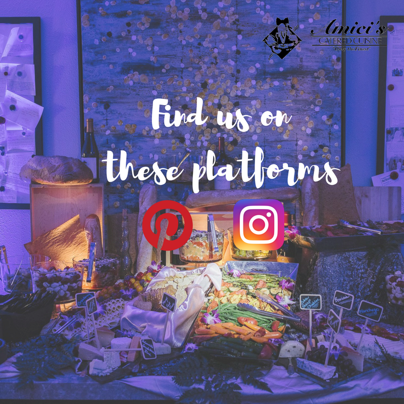 Have you seen us on Instagram & Pinterest? Find, Follow, and Enjoy all that #Amicis has to offer!