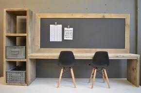 Stijlvolle Speeltafel Kinderkamer : Toffe speeltafel van steigerhout in combinatie met een magnetisch