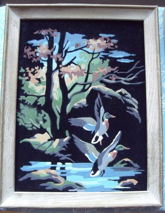 Pin By Robin On By The Numbers Velvet Painting Vintage