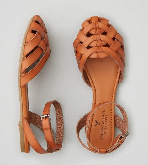 Aeo Strappy Ballet Flat Closed Toe Sandals Aeo And