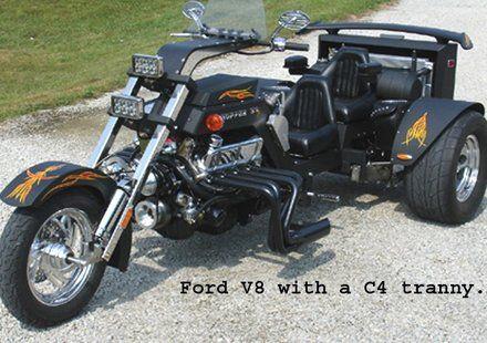 Cheetah Trikes - Custom and Converted Trikes   V8 Trikes