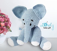 Amigurumi Elephant pattern by Viktorija Dineikiene #crochetelephantpattern Ravelry: Pattern Search #crochetelephantpattern