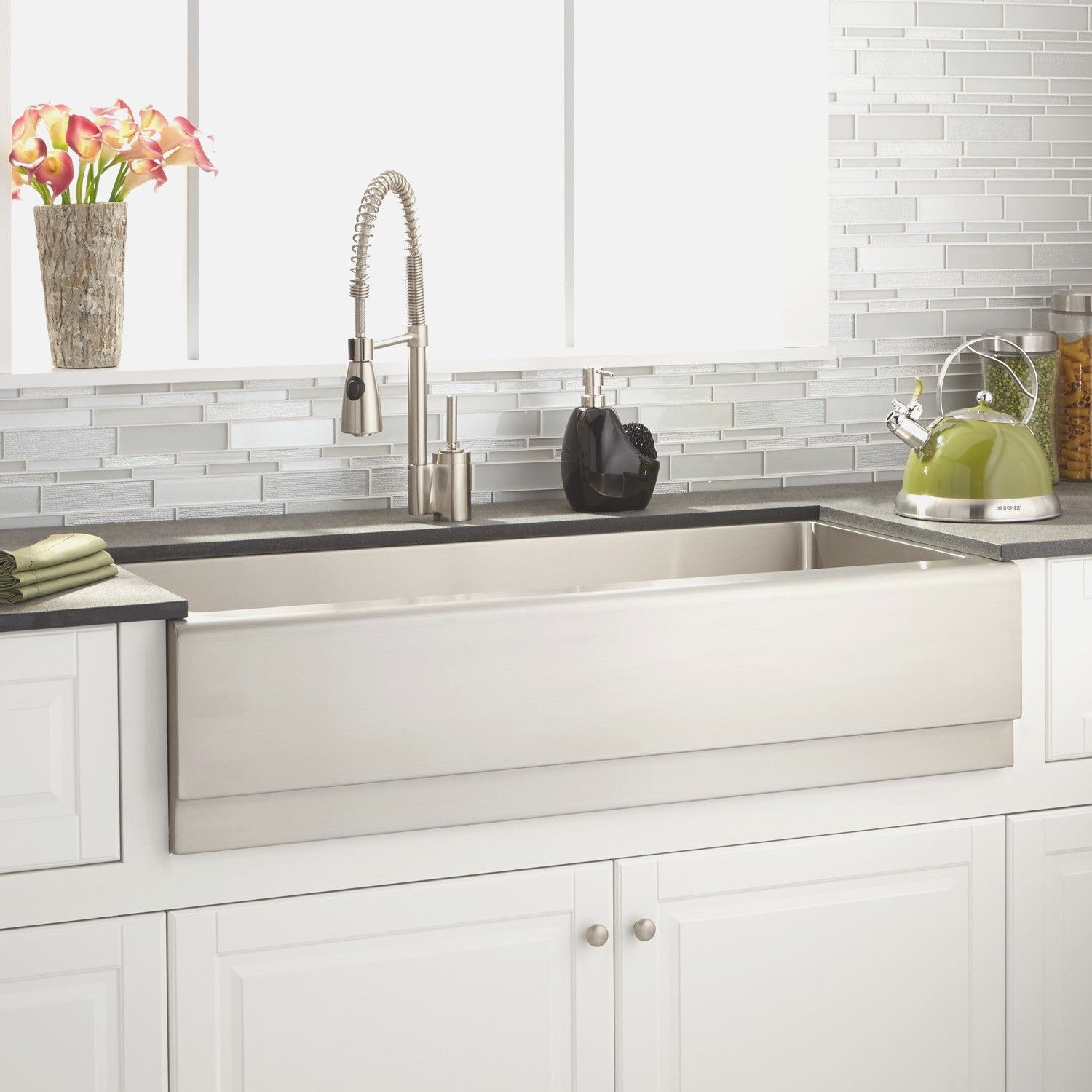 Stainless Steel Farmhouse Kitchen Sink   Farmhouse Stainless Steel  Undermount Kitchen Sink, Hammered Stainless Steel