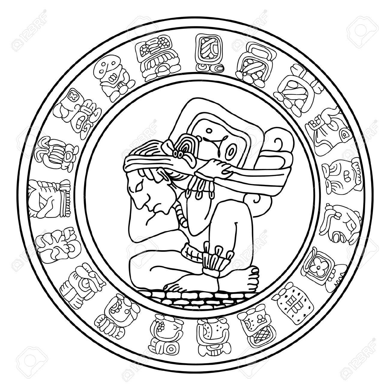 Image Result For Imagenes Para Serigrafia Gratis Mayan Symbols Mayan Art Aztec Art