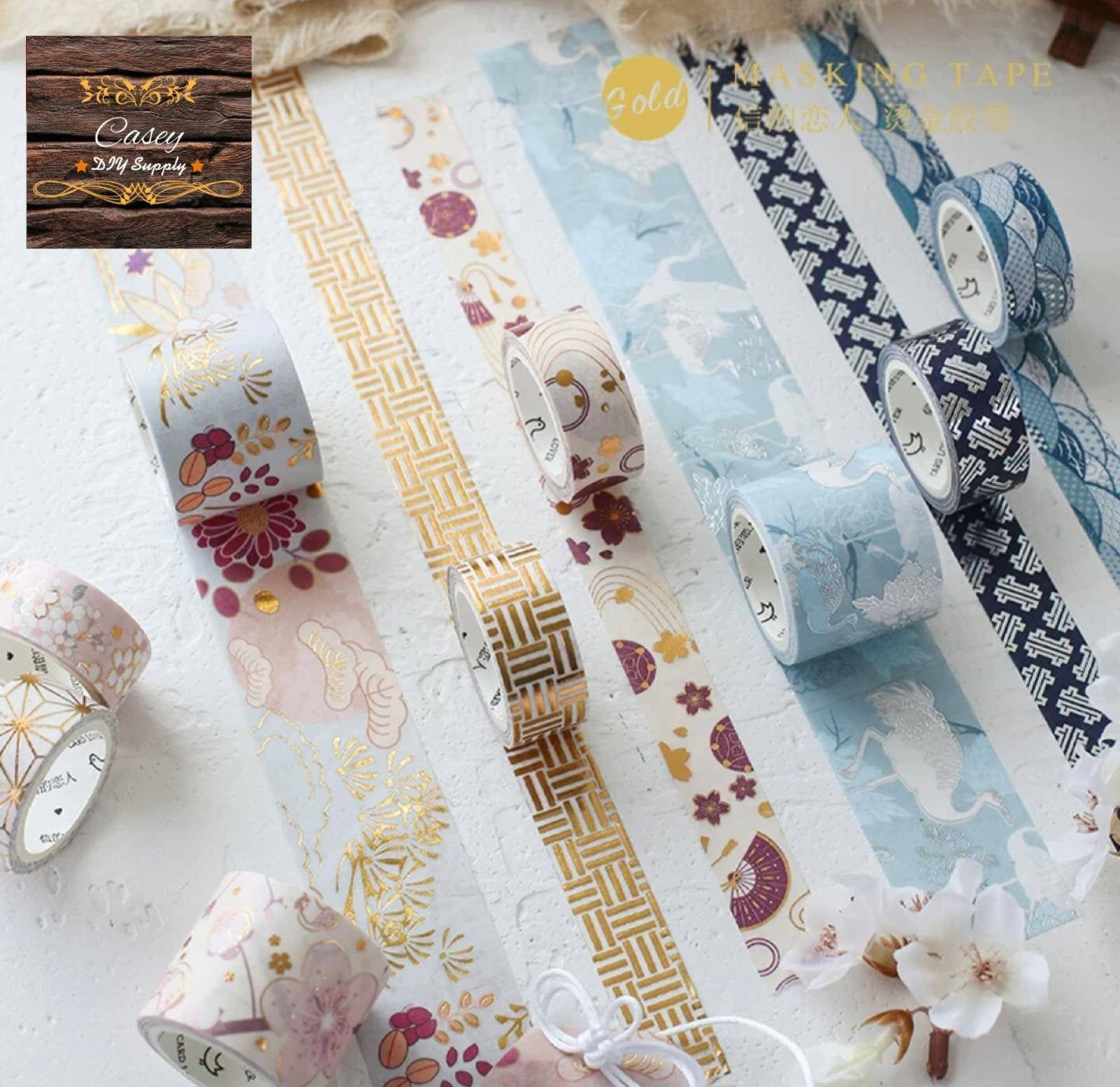Set of 3 gold foil Japanese sakura flower washi tape in box, flower washi tape, masking tape, wrap tape for dairy & scrapbooking Description -2 Rolls(15mmx3M) -1 roll (30mmx3M) Total: 3 Rolls Remarks: 1. I handle your order in 1 day when I receive your payment and the shipment will be arranged within 3 to 12 days. 2. All of the orders offer e-express service and registered sign, which cover most of the countries with online tracking. 3. For personalised order, pls convo me to my mail box, I