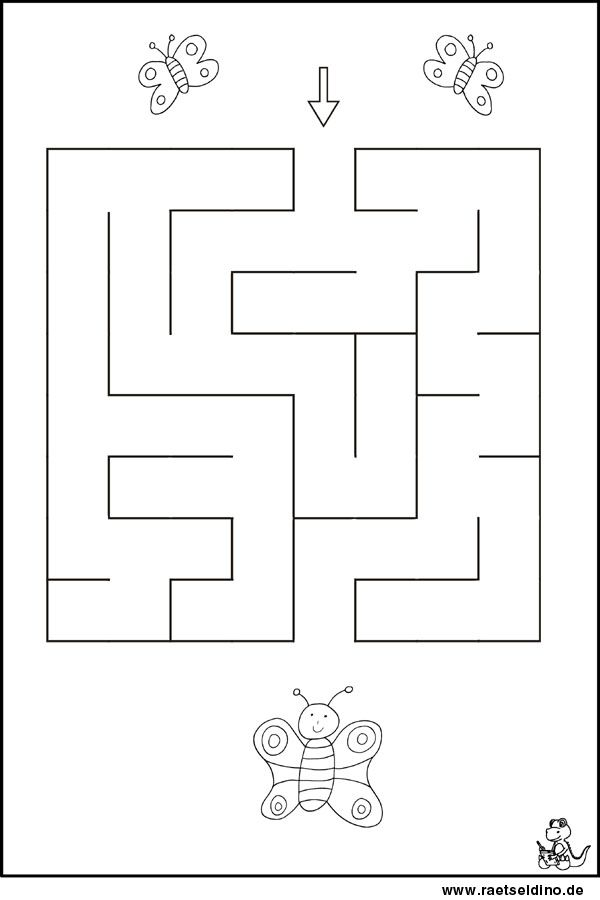 Labyrinth Rätsel für Kindergartenkinder | pillangó | Pinterest ...