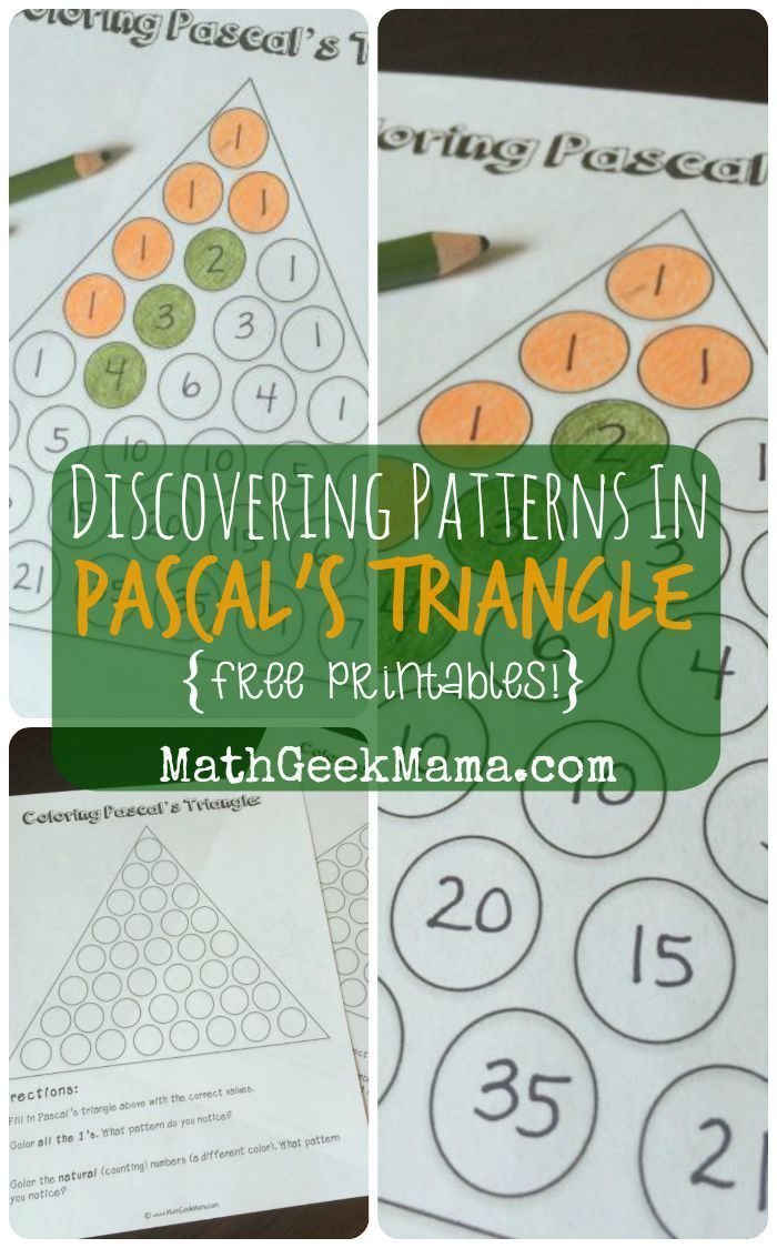 Exploring Patterns in Pascal\'s Triangle {FREE Printables ...