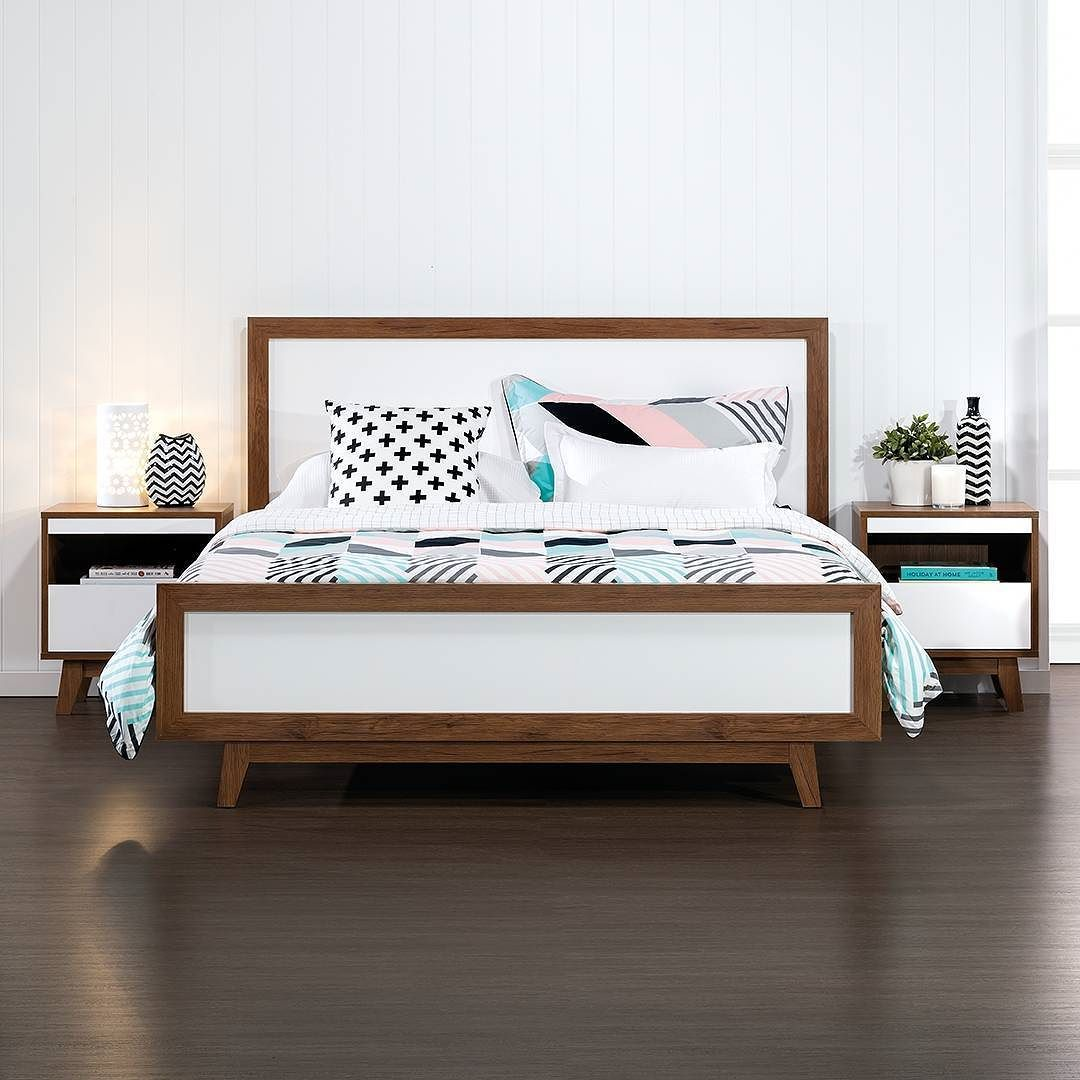Retro Style Bedroom Escape To A Scandi Paradise Andi 4 Piece Queen Bed Only 39995