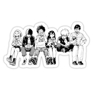 Bw Squad Sticker In 2020 Vinyl Decal Stickers Stickers Anime Stickers