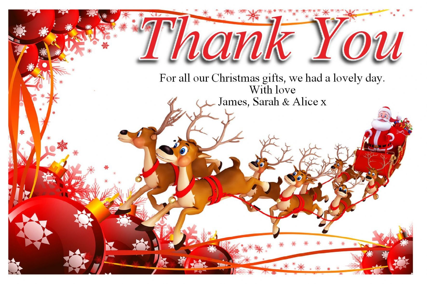 Christmas Thank You Cards Ideas  Thank You Cards