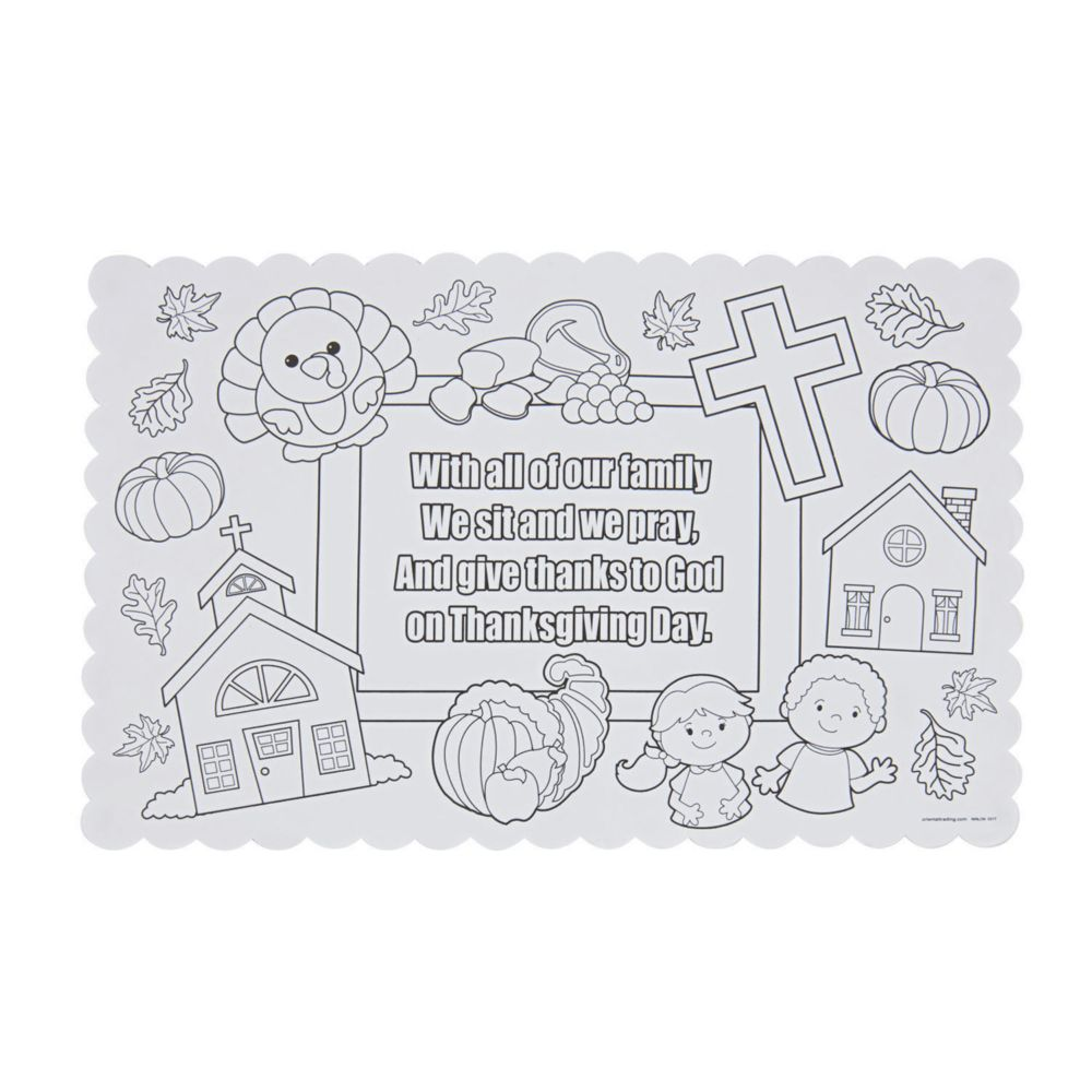Color Your Own Thanksgiving Prayer Placemats In 2020 Thanksgiving Prayer Thanksgiving Placemats Kids Thanksgiving Placemats