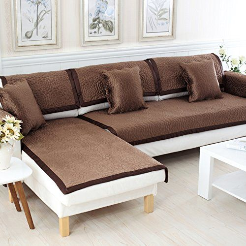 Sofa Slipcovers Covers Protector Furniture European Style Seasons Cushions Simple Soft Anti Slip Sand Hair Towel A 90x240cm 35x94inch