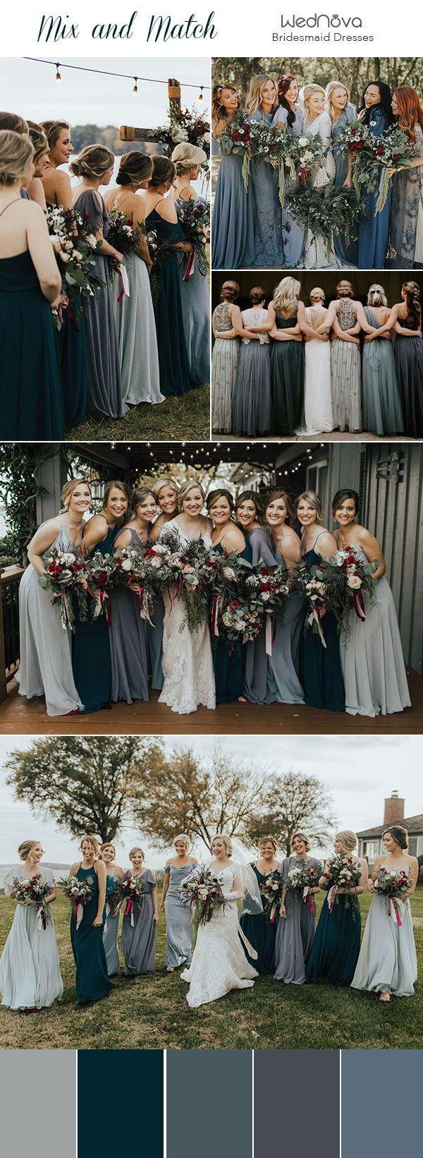 Photo of 14 nicht übereinstimmende Brautjungfernkleider Farbpaletten aus …