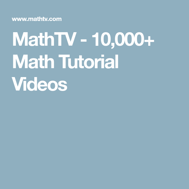 We produce quality materials for mathematics instruction, including ...
