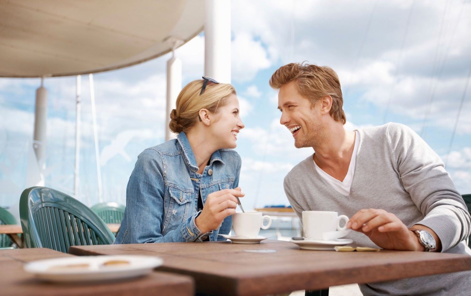 Image result for man and woman drink coffee
