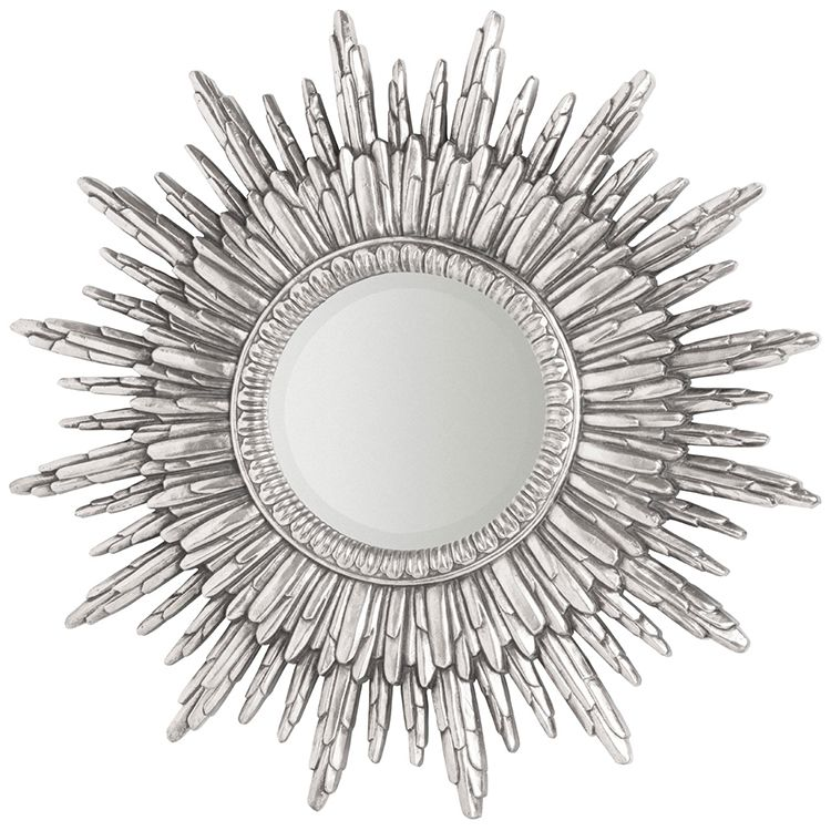Round Silver Sunburst Wall Mirror 90 X 90 X 4cm Mirror Wall Framed Mirror Wall Sunburst Mirror
