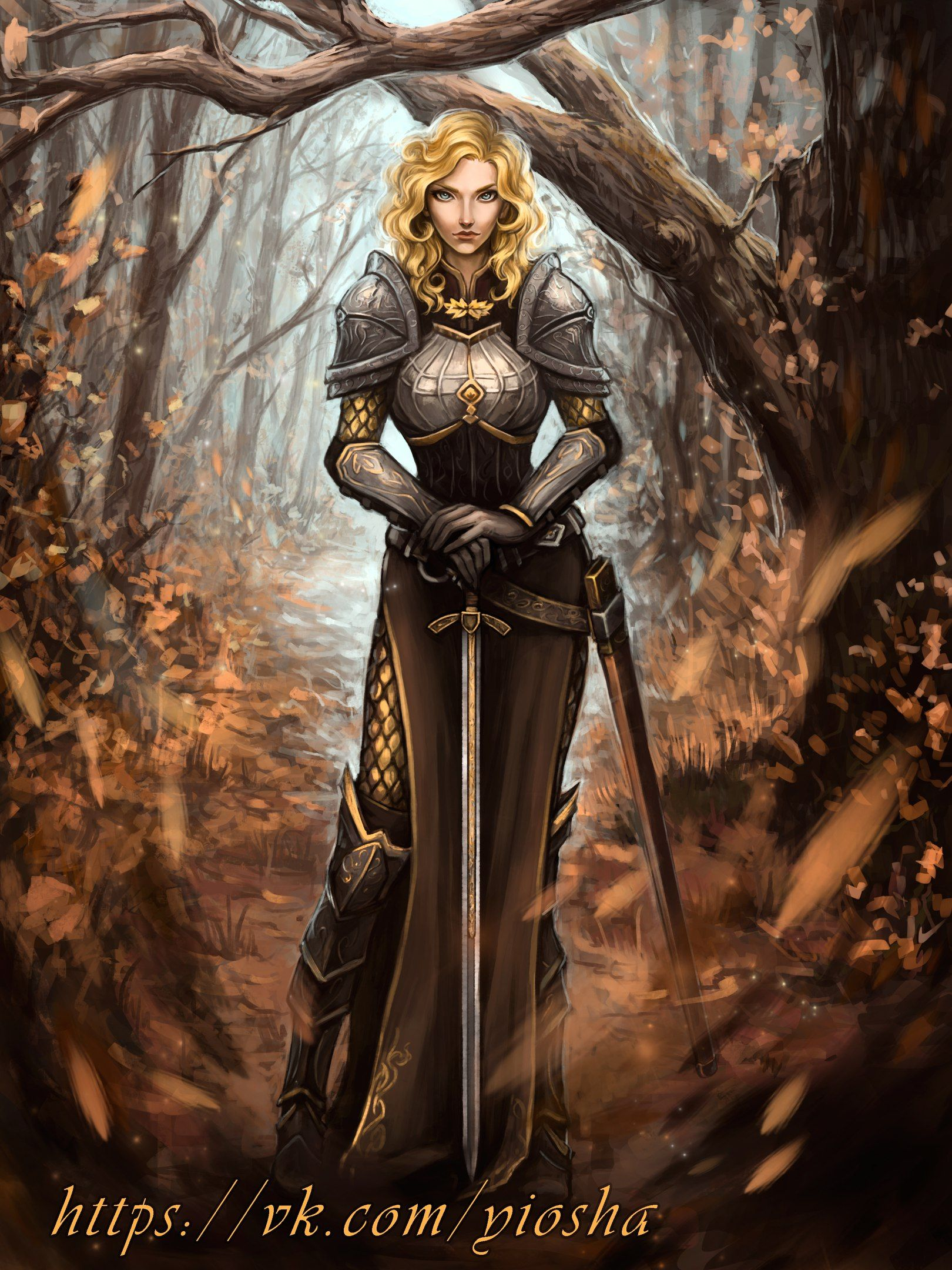 Female Human Sword Plate Armor Cleric Fighter Paladin - Pathfinder PFRPG DND D&D d20 fantasy in ...