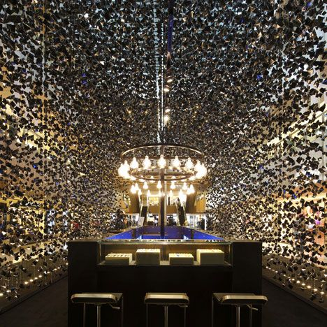 Cara Ang of Asylum Creative discusses the Singapore creative agency's  pop-up store for watch brand Hublot made of thousands of folded-paper  crystal shapes.