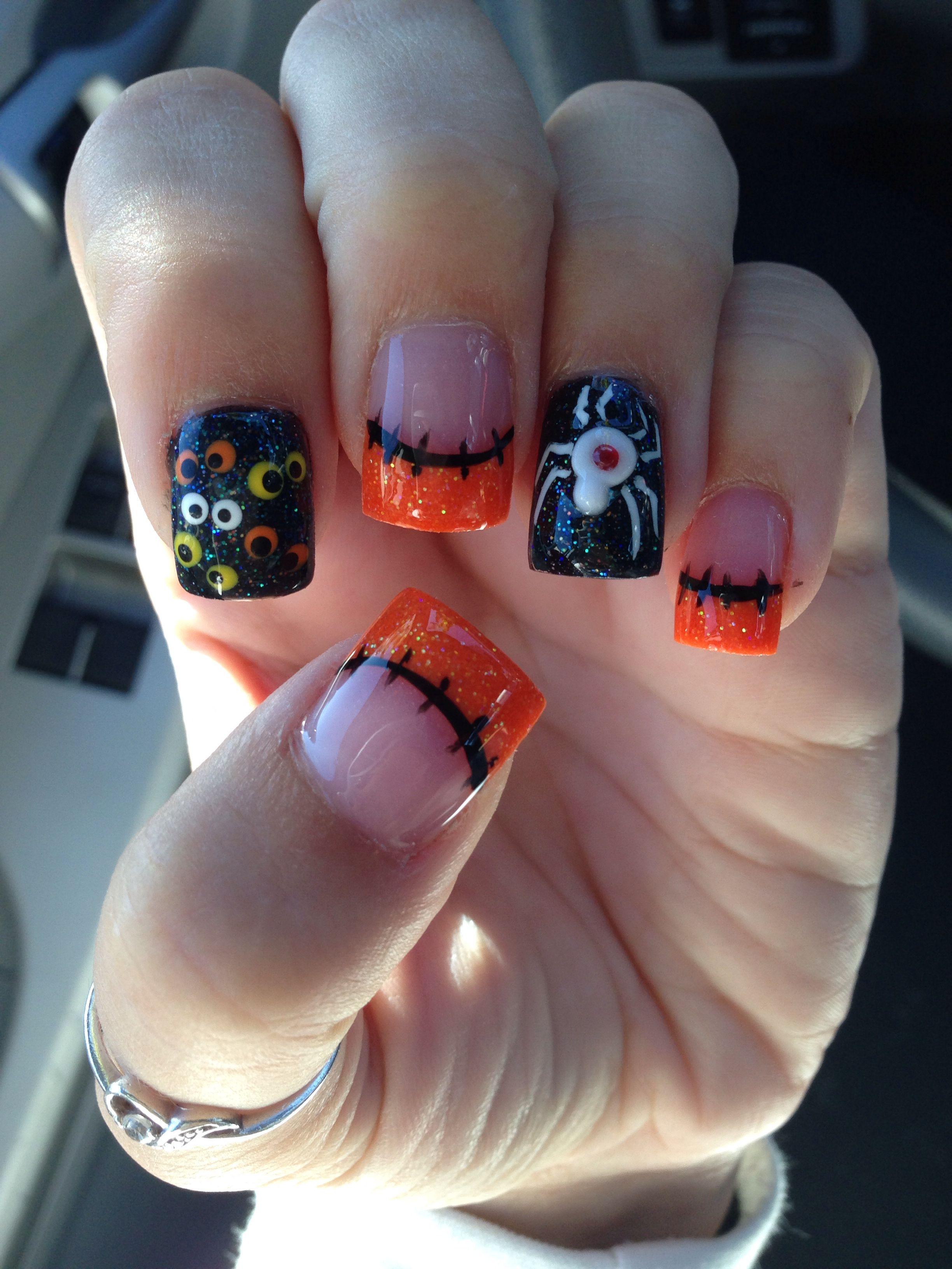 65 Halloween Nail Art Ideas | Halloween acrylic nails ...