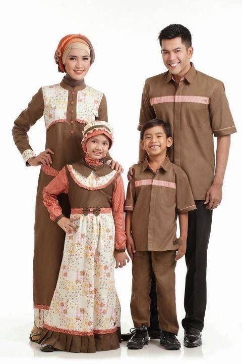 Memakai Baju Muslim Keluarga Untuk Bapak Ibu Dan Anak Saat Datang Ke
