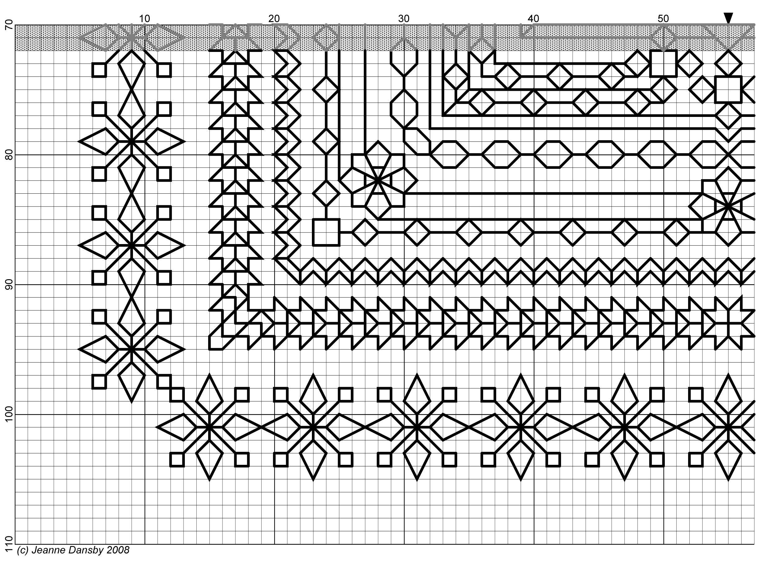 Snowflake Challenge 3/4 | Blackwork | Pinterest | Bordado, Bordado ...