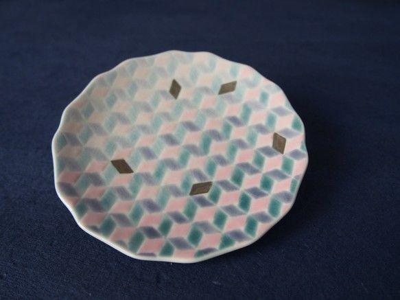 淡いグラデーションの小皿プラチナ桜色 皿プレート 織窯 通販Creema(クリーマ) ハンドメイド手作りクラフト作品の販売サイト