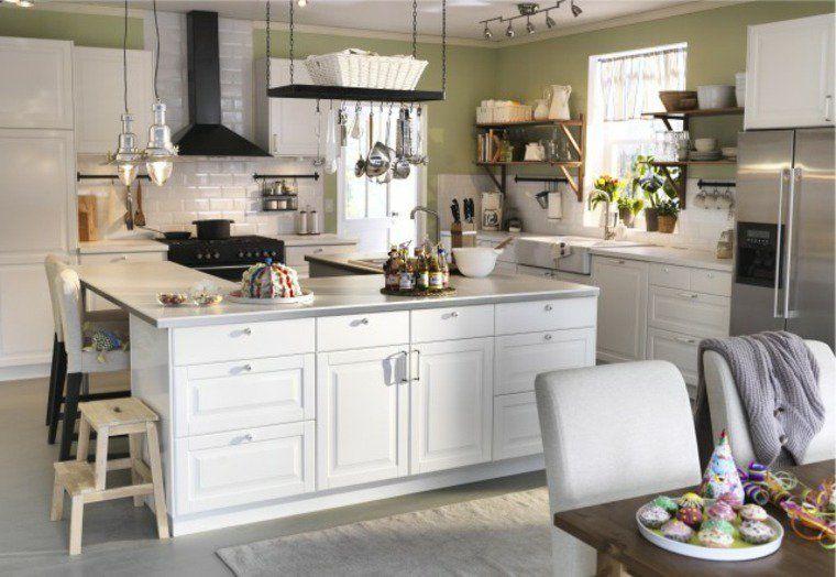 id e cuisine ik a campagne chic blanche design de maison design de maison. Black Bedroom Furniture Sets. Home Design Ideas