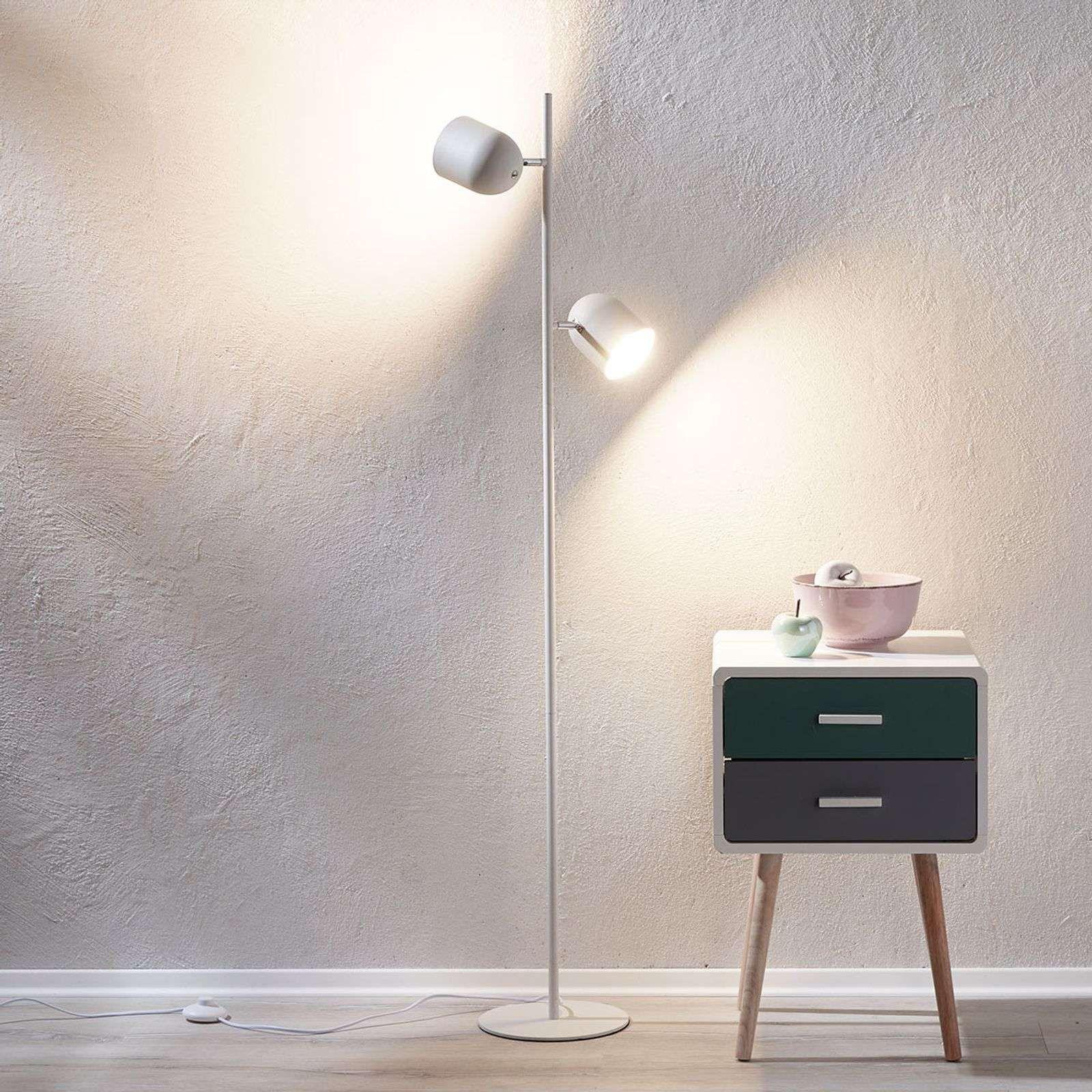 Moderne Stehlampe Von Lindby Weiss In 2020 Stehlampe Weiss Leuchtstoffrohre