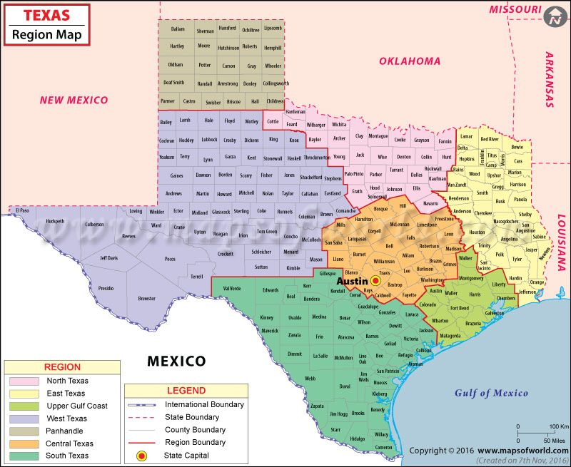 Texas Regions Map USA Maps Pinterest Texas - North texas map
