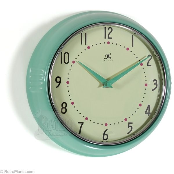 Clocks By Infinity Retro Kitchen Wall Clocks In Green From